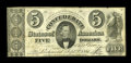 "Confederate Notes:Group Lots, T34 $5 1861. This is a bright $5 with a few small edge blemishes.Fine.. From The William A. ""Bill"" Bond Collection..."