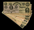 Confederate Notes:Group Lots, 1864 Issues including T65 Fine; T66 VF; T67 Fine; T68 VF; T69 XF;T70 XF-AU; T71 VF; and T72 C... (Total: 8 notes)