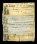Obsoletes By State:Arkansas, Three Different Little Rock, AR- Treasury Warrants. $1 Dec. 7, 1861 Cr. 1b, a nice looking piece signed by O. Basham. The ce... (Total: 4 notes)