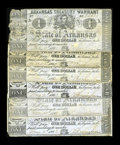 Obsoletes By State:Arkansas, (Little Rock), AR- $1 Arkansas Treasury Warrants.. 1862 Cr. 32 VG (3). 1863 Cr. 32a VG (3).... (Total: 6 notes)