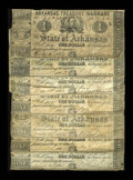 Obsoletes By State:Arkansas, (Little Rock), AR- $1 Arkansas Treasury Warrants. 1862 Cr. 30a Good-VG (7)... (Total: 7 notes)