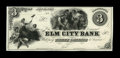 Obsoletes By State:Connecticut, New Haven, CT- Elm City Bank $3 Haxby UNL Proof. An attractive Proof mounted on heavy paper stock. It is similar in design t...