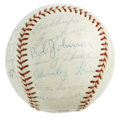 Autographs:Baseballs, 1965 Baltimore Orioles Team Signed Baseball. Robin Roberts waspicked up by the Baltimore Orioles after spending several Ha...