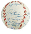 Autographs:Baseballs, 1991 Milwaukee Brewers Team Signed Baseball. Twenty signatures on aMilwaukee Brewers souvenir baseball from the franchise'...
