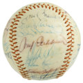 Autographs:Baseballs, 1975 California Angels Team Signed Baseball. It's often tough tobelieve that Nolan Ryan tossed four no-hitters in just ove...