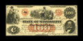 Obsoletes By State:Mississippi, Jackson, MS- State of Mississippi $100 Feb. 14, 1862 Cr. 1b. This $100 was lightly handled leaving it with sound edges. A co...