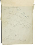 "Autographs:Letters, Vintage Baseball Stars Signed Album Pages. At least 10 pages fromthis 4x6"" autograph album have been signed by vintage ba..."