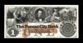 Obsoletes By State:Ohio, Cleveland, OH- The Forest City Bank $1 G4a Wolka 0732-03 Proof. Anattractive Proof mounted on a slightly oversize card. U...