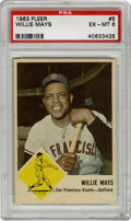 Baseball Cards:Singles (1960-1969), 1963 Fleer Willie Mays #5 PSA EX-MT 6. Hall of Fame five-toolwizard Willie Mays makes an appearance in the '63 Fleer baseb...