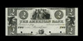 Obsoletes By State:Rhode Island, Providence, RI- The American Bank $2 G10 Durand 913 Proof. An attractive non-ABNCo India paper Proof. Uncirculated, 4 PO...