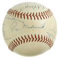 Autographs:Baseballs, Circa 1949 Houston Buffaloes Team Signed Baseball. Ducky JoeMedwick occupies the sweet spot of the official Texas League o...