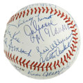 "Autographs:Baseballs, 1990 Radio City Music Hall ""Night of 100 Stars"" Multi-SignedBaseball. A total of 17 signatures appear on this ONL (White) ..."