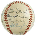 Autographs:Baseballs, 1948-49 St. Louis Cardinals Team Signed Baseball. Eighteen membersof the 1948-49 era St. Louis Cardinals have checked in o...