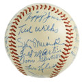 Autographs:Baseballs, 1951 St. Louis Cardinals Team Signed Baseball. After a lengthycareer with the St. Louis Cardinals, Marty Marion took the 19...