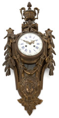 Decorative Arts, French:Other , A NAPOLEON III C. COACH BRONZE CARTEL CLOCK . Circa 1880. Marks:C. COACH à Rouèn. 25-1/2 inches high (64.8 cm). ...