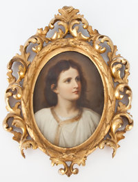 FRAMED KPM PORCELAIN PLAQUE: THE YOUNG JESUS Königliche Porzellan-Manufactur, Berlin, Germa
