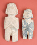 American Indian Art:Pottery, Two Mezcala Idols... (Total: 2 Items)