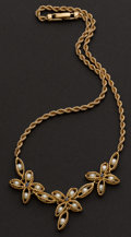 Estate Jewelry:Necklaces, Superb Pearl & Gold Necklace. ...