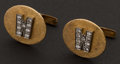 Estate Jewelry:Cufflinks, Early Diamond & Gold Cufflinks. ...