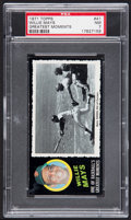 Baseball Cards:Singles (1970-Now), 1971 Topps Greatest Moments Willie Mays #41 PSA NM 7....