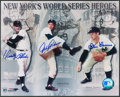 Baseball Collectibles:Photos, New York's World Series Heroes Multi Signed Photograph....