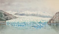 Works on Paper, THEODORE J. RICHARDSON (American, 1855-1914). Glacier in Alaska. Watercolor on paper . 15-1/2 x 26 inches (39.4 x 66.0 c...