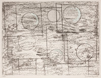 BARBARA HEPWORTH (British, 1903-1975) Squares and Circles, 1969 Lithograph 21 x 27-1/2 inches (53