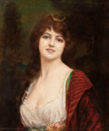 Paintings, ABBEY ALSTON (British, 1867-1960). Portrait of a Lady. Oil on canvas . 24 x 20 inches (61.0 x 50.8 cm). Signed lower lef...