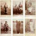 American Indian Art:Photographs, SIX NATIVE AMERICAN PORTRAITS. c. 1890... (Total: 6 Items)