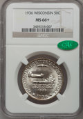 Commemorative Silver, 1936 50C Wisconsin MS66+ NGC. CAC. NGC Census: (1189/354). PCGSPopulation (1488/412). Mintage: 25,015. Numismedia Wsl. Pri...