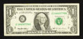 Error Notes:Offsets, Fr. 1921-C $1 1995 Federal Reserve Note. Fine-Very Fine.. ...