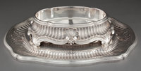 A TETARD FRERES FRENCH SILVER CENTER PIECE ON PLATEAU Tetard Freres, Paris, France, circa 1890 Marks: T FRE