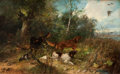 19th Century European:Landscape, JULIUS SCHEURER (German, 1859-1913). Prairie Dogs. Oil oncanvas. 17-1/4 x 29-3/4 inches (43.8 x 75.6 cm). Signed lower ...