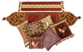 Decorative Arts, Continental:Other , SIXTEEN TAPESTRY AND SILK THROW PILLOWS, TWO TAPESTRY STYLE TABLERUNNERS, A SILK COMFORTER WITH SHAMS AND ADDITIONAL BEDDING...(Total: 20 Items)