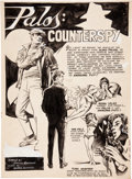 "Original Comic Art:Splash Pages, Nestor Redondo Redondo Komiks #52 ""Palos: Counterspy"" SplashPage 35 Original Art (c. 1960s)...."