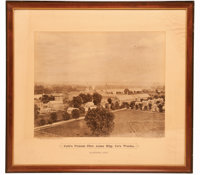 Rare and Historic Framed Sepia Photographic Print of Colt Factory, c.1869, Signed by Prescott & White