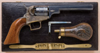 Fine and Exceptional Cased Colt Baby Dragoon Pocket Model Revolver with Early Cylinder Roll Scene