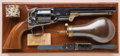 Handguns:Single Action Revolver, Fine and Exceptional Cased Colt Model 1851 Navy or Belt Model Revolver, with Hartford Barrel Address, and in Kidder Patent Cas...