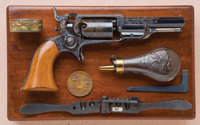 Fine and Historic Cased, Engraved and Inscribed Colt Model 1855 Pocket Sidehammer Revolver with Charter Oak Grip, Presen...