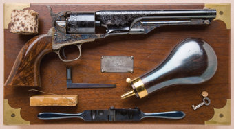 Featured item image of Exceptional Historic, Cased, Engraved and Presentation Inscribed Colt Model 1861 New Model Navy Revolver, From the Colt Co. to E.W. Parsons, of Adams Express Co., Hartford