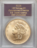 "S.S.C.A. Relic Gold Medals, 1855 $50 SSCA Relic Gold Medal ""1855 Kellogg & Co.Fifty"" Gem Uncirculated PCGS...."