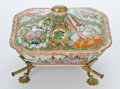 Paintings, CHINESE EXPORT PORCELAIN FAMILLE ROSE COVERED DISH ON ADJUSTABLE STAND . Circa 1850-1900. 5-1/2 inches high (14.0 cm) (cover... (Total: 3 Items)