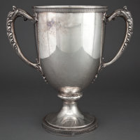 GORHAM SILVER SPECIAL ORDER TWO-HANDLED 16 PINT PRESENTATION CUP Providence, Rhode Island, 1920 Marks: (lion-a