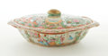 Ceramics & Porcelain, GROUP OF FOUR CHINESE EXPORT PORCELAIN ROSE MEDALLION COVERED OVAL TUREENS . Circa 1850-1900. 10-1/2 inches long (26.7 cm) (... (Total: 8 Items)