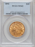 Liberty Eagles: , 1892 $10 MS62 PCGS. PCGS Population (1270/251). NGC Census:(2858/669). Mintage: 797,400. Numismedia Wsl. Price for problem...