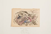 JULES PASCIN (French, 1885-1930) Two Watercolors: Good Times and Ladies of Leisure Waterc