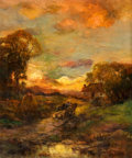 Fine Art - Painting, American:Antique  (Pre 1900), CHARLES P. APPEL (American, 1857-1928). Sunset at Close ofDay, circa 1900. Oil on canvas. 30 x 24-1/2 inches (76.2 x62...