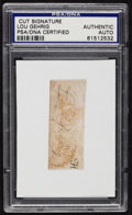 Baseball Collectibles:Others, Lou Gehrig Signed Cut Signature....
