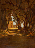 Paintings, Circle of ELIHU VEDDER (American, 1836-1923). Monte Mario, Rome. Oil on wooden panel. 8-3/4 x 11-3/4 inches (22.2 x 29.8...