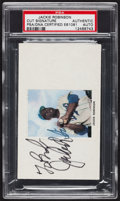 Baseball Collectibles:Others, Jackie Robinson Signed Index Card....